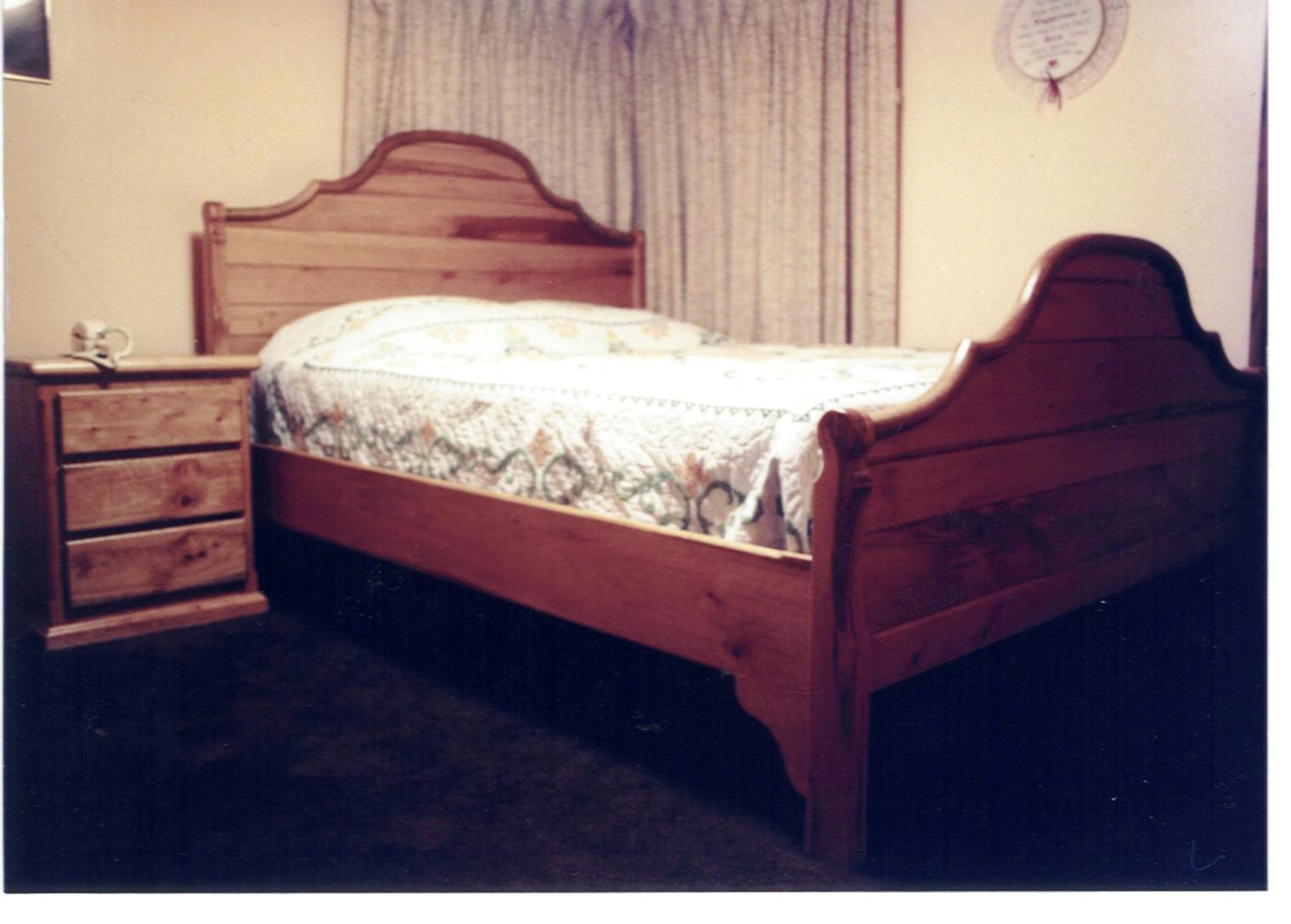 Chinquapin headboard and footboard